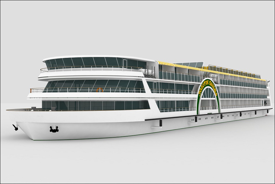 "Shipyard ""Lotos"" to lay passenger cruise ship ""Zolotoye Koltso""."